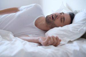 man dealing with sleep apnea in Columbus